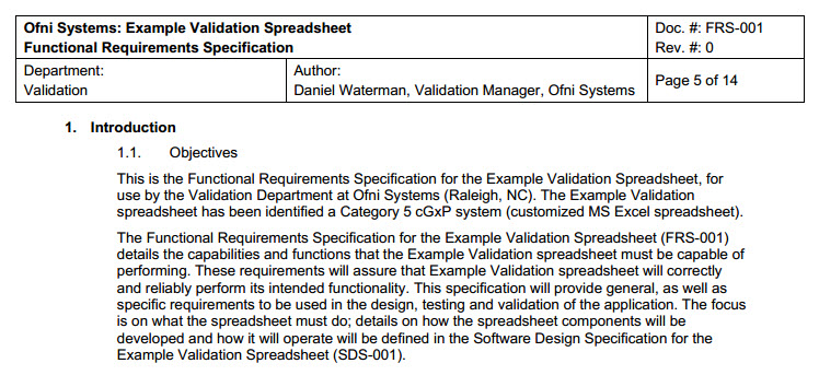 Fastval Functional Requirements Template | Ofni Systems