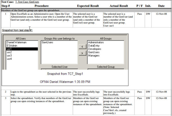 Example executed Performance Qualification, generated from the FastVal performance qualification template